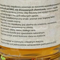 Olej rzepakowy zimnotłoczony Oleje Świecie - opis