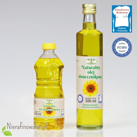Olej słonecznikowy zimnotłoczony Oleje Świecie 500 ml