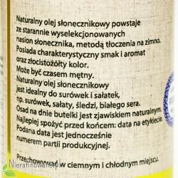 Olej słonecznikowy zimnotłoczony Oleje Świecie - opis
