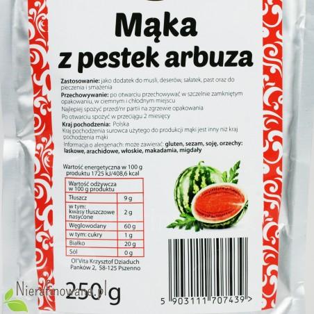 Mąka z Pestek Arbuza - Ol'Vita - wartości odżywcze