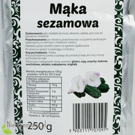 Mąka Sezamowa - Ol'Vita - wartości odżywcze