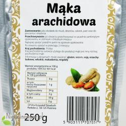 Mąka Arachidowa - wartości odżywcze