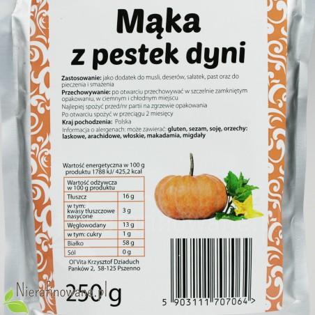 Mąka z Pestek Dyni - wartości odżywcze