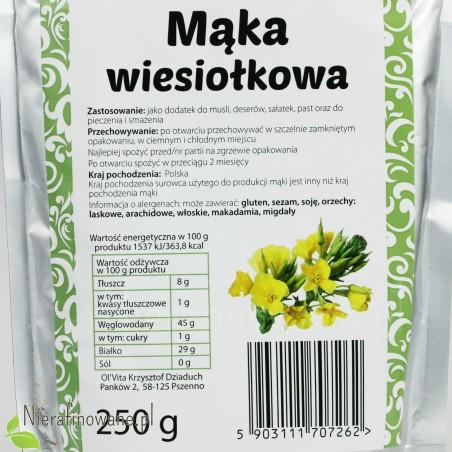 Mąka z Wiesiołka - wartości odżywcze