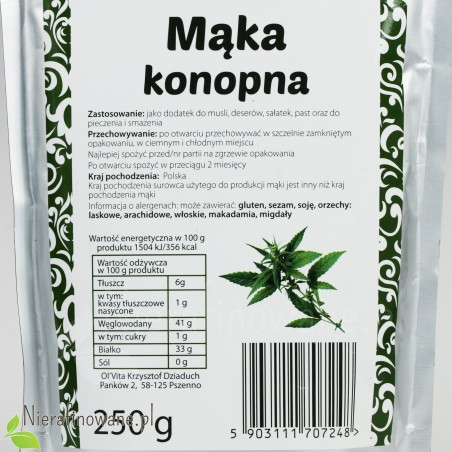 Mąka Konopna - wartości odżywcze
