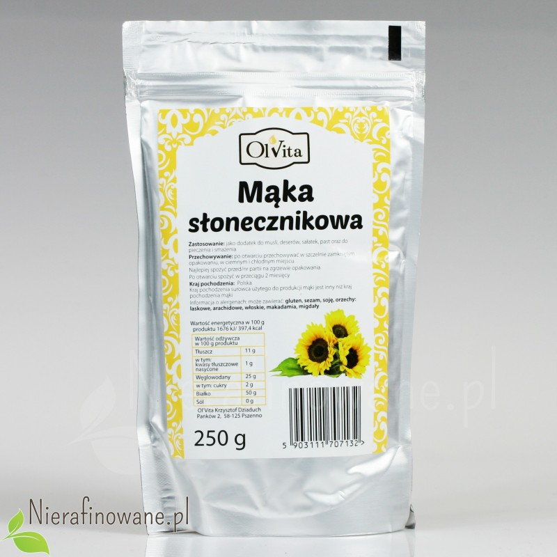 Mąka Słonecznikowa - Ol'Vita 250 g