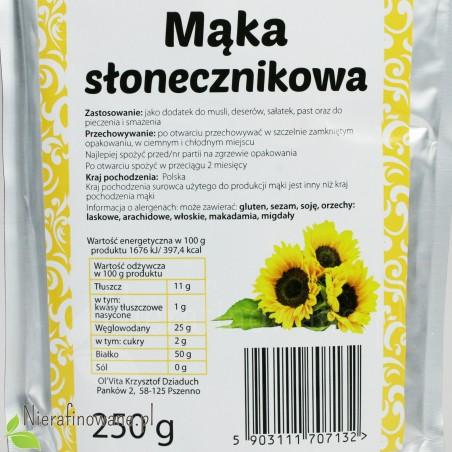 Mąka Słonecznikowa - wartości odżywcze