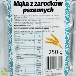 Mąka z zarodków pszennych - wartości odżywcze