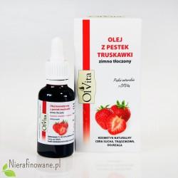 Olej z pestek truskawki zimnotłoczony Ol'Vita - 30 ml