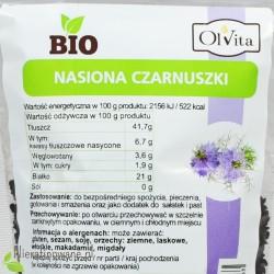 Czarnuszka BIO Ol'Vita - wartości odżywcze