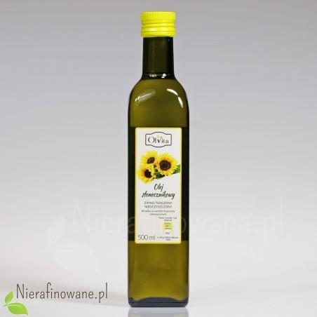 Olej słonecznikowy zimnotłoczony nieoczyszczony Ol'Vita - 500 ml