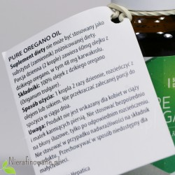 Olej z Oregano (origanum vulgare, dzikie oregano), 80% karwakolu - Hepatica - opis
