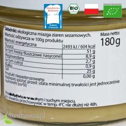 Masło sezamowe, pasta Tahini - ekologiczne - BioFood - wartości odżywcze, właściwości