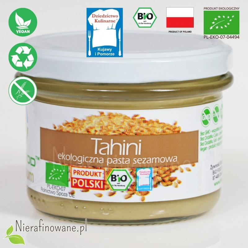 Masło sezamowe, pasta Tahini - ekologiczne - BioFood, 180 g