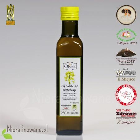 Olej rzepakowy zimnotłoczony nieoczyszczony Ol'Vita  - 250 ml