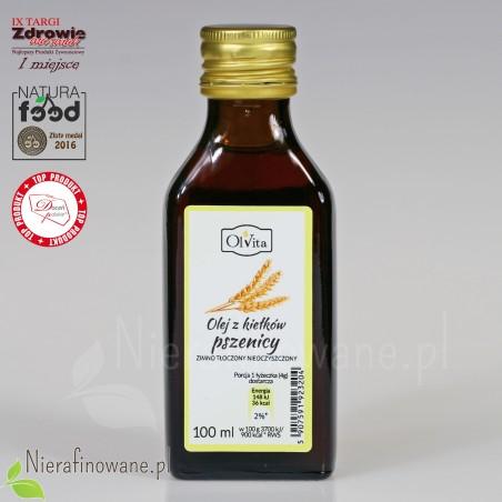 Olej z Kiełków Pszenicy zimnotłoczony, nieoczyszczony Ol'Vita - 100 ml